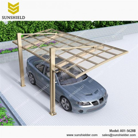 Aluminum Shelters Cantilever Car Port For 1 Car ..