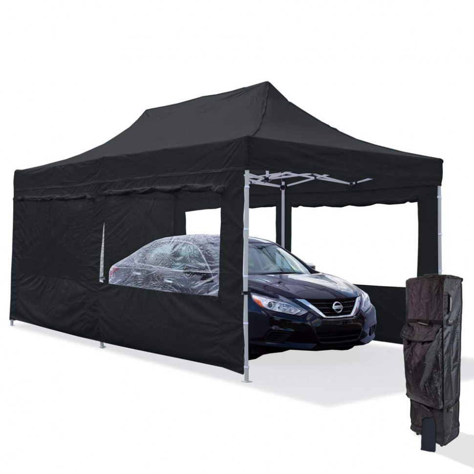 Amazon.com: Vispronet Black 8x8 Steel Carport Canopy Tent ..