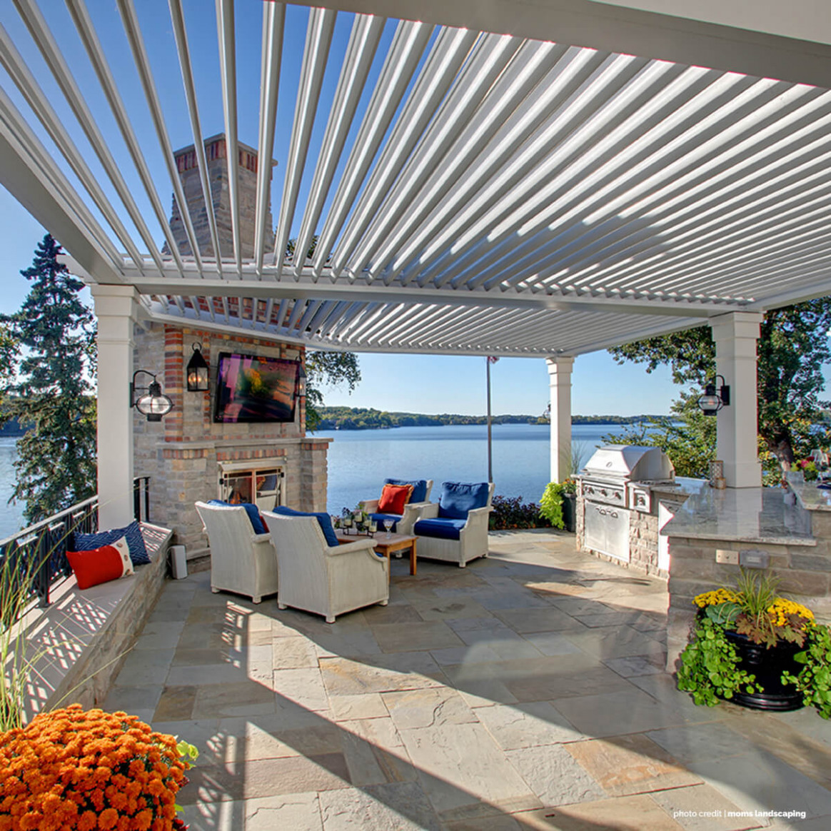American Louvered Roof Systems | Kuert Roof & Carport Market George