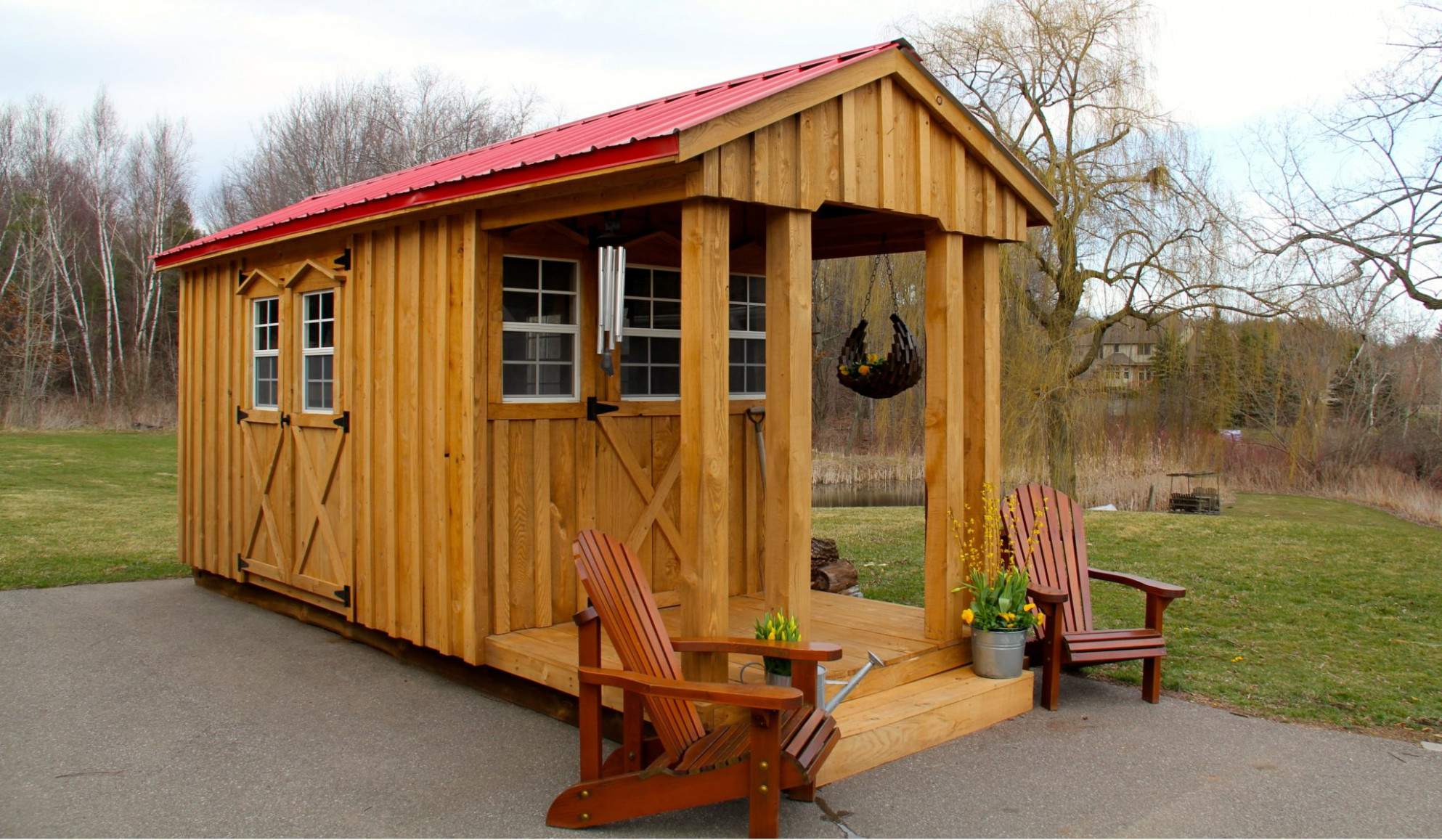 Amish Sheds Wooden Carport With Shed