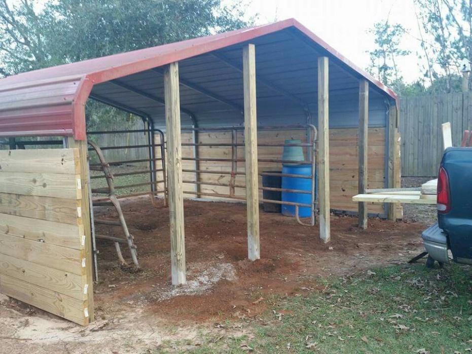 Another View Of Our Horse Shelter That We Are Building Out ..