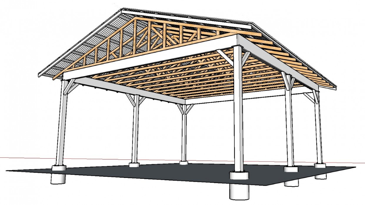 April Wilkerson Response On How To Build An Open Carport SketchUp Carport Roof Trusses