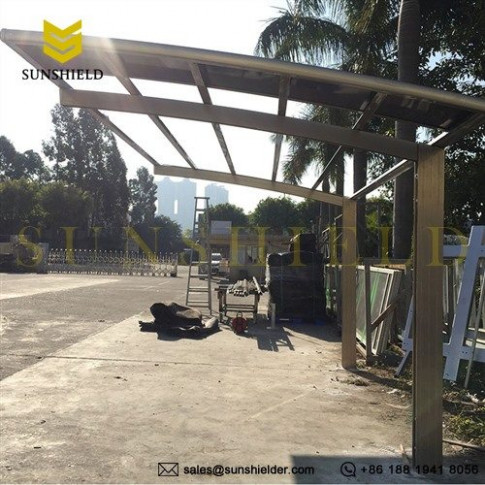 Arched Roof Carport -1 car carport - Curved Polycarbonate ...