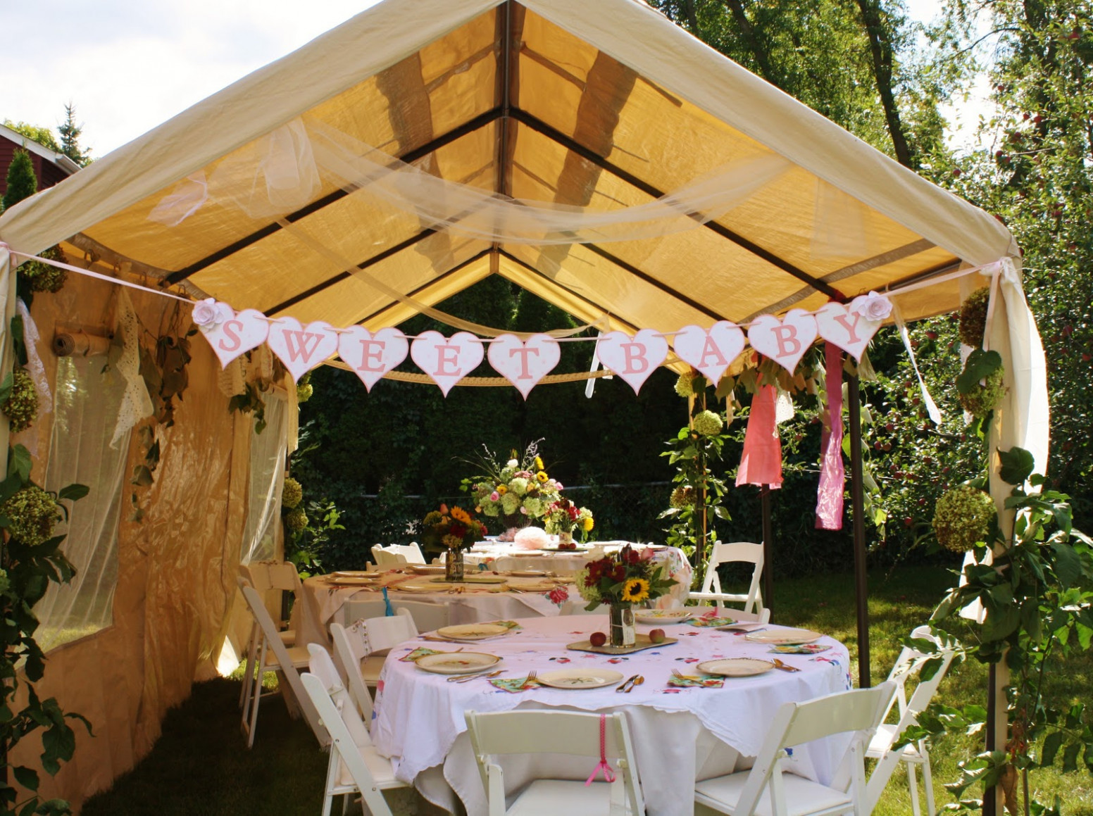 Art As Usual: A Vintage Book Baby Shower Decorating Carport For Party