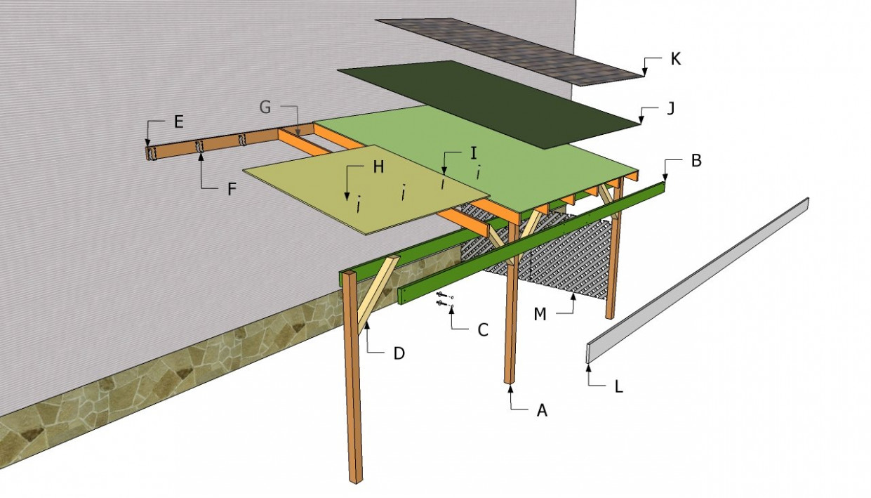 Attached Carport Plans | Free Outdoor Plans DIY Shed ..
