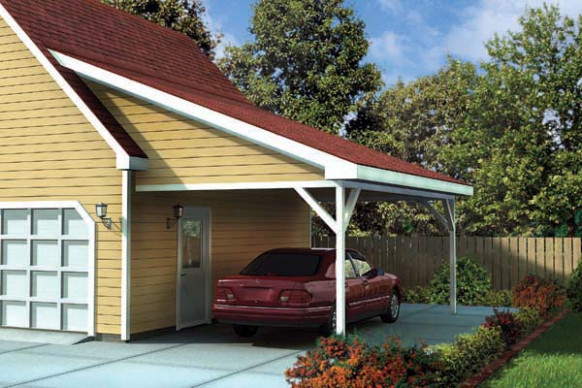 Attached Carport Plans PDF Woodworking