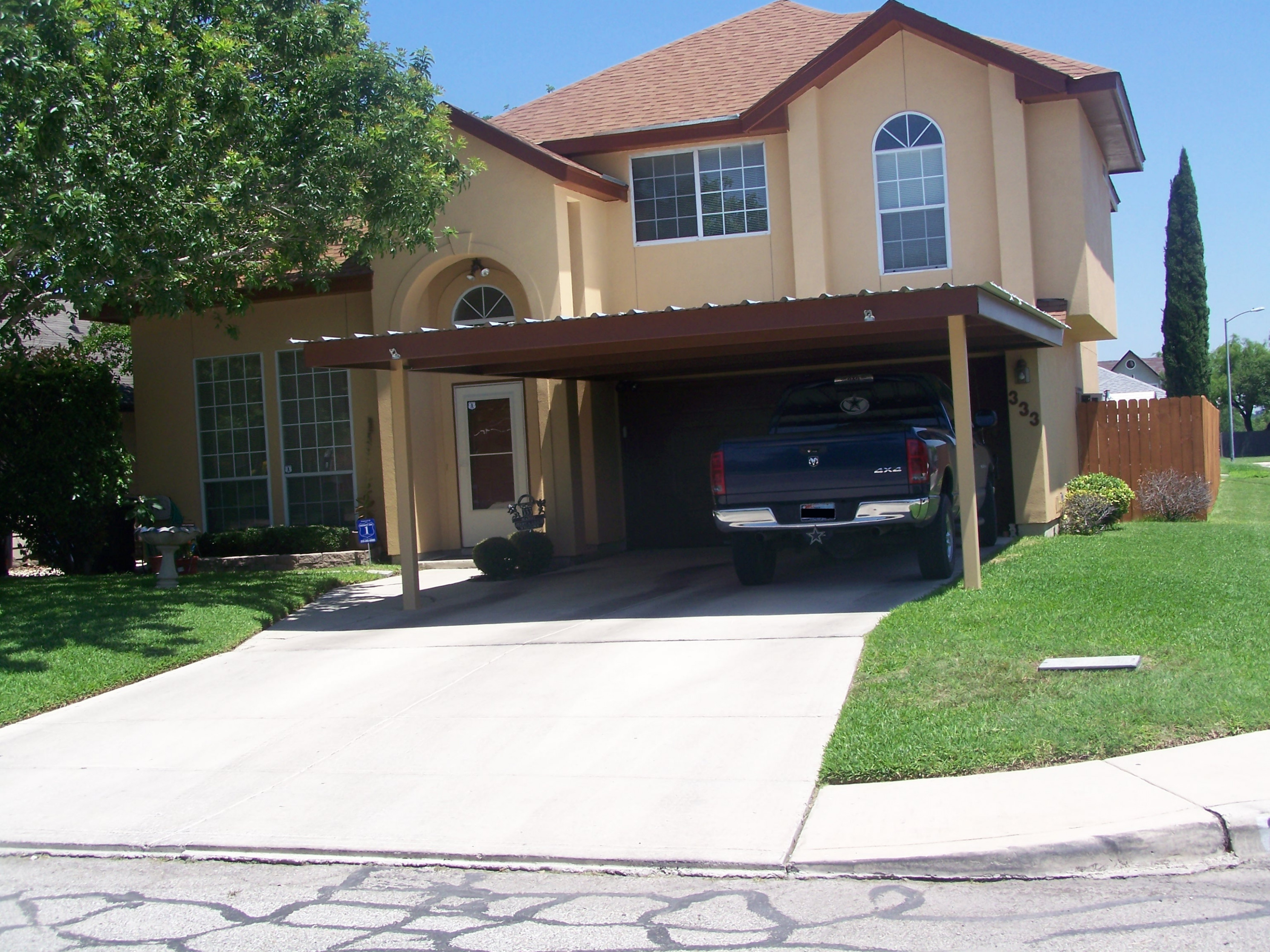 Attached Two Post Custom Two Car Carport South San Antonio ..