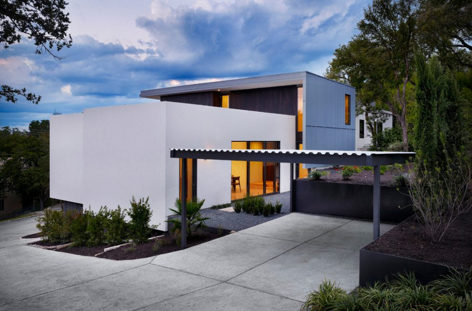 Austin Attached Carport Plans Exterior Modern With ..