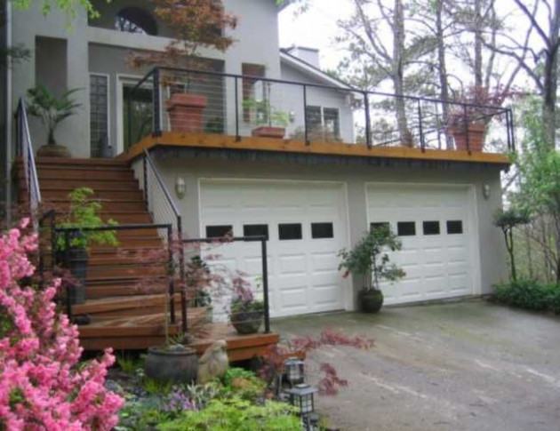 Balcony Over Garage | Deck Over Garage Handrail | If I Had ..