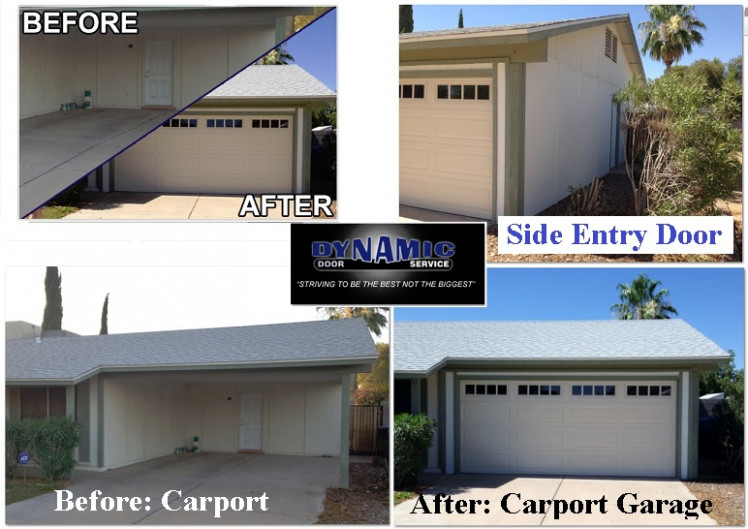 Before & After: Carport Driveway To Carport Garage ..