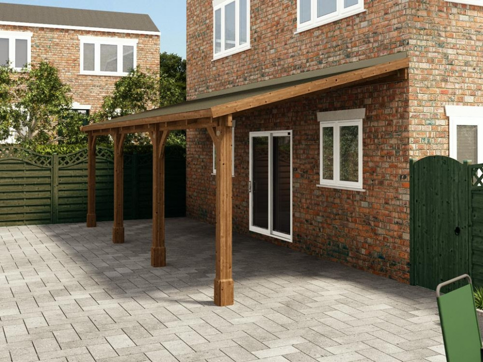 Brontes Lean To Carport | Garages Carport Garage Uk