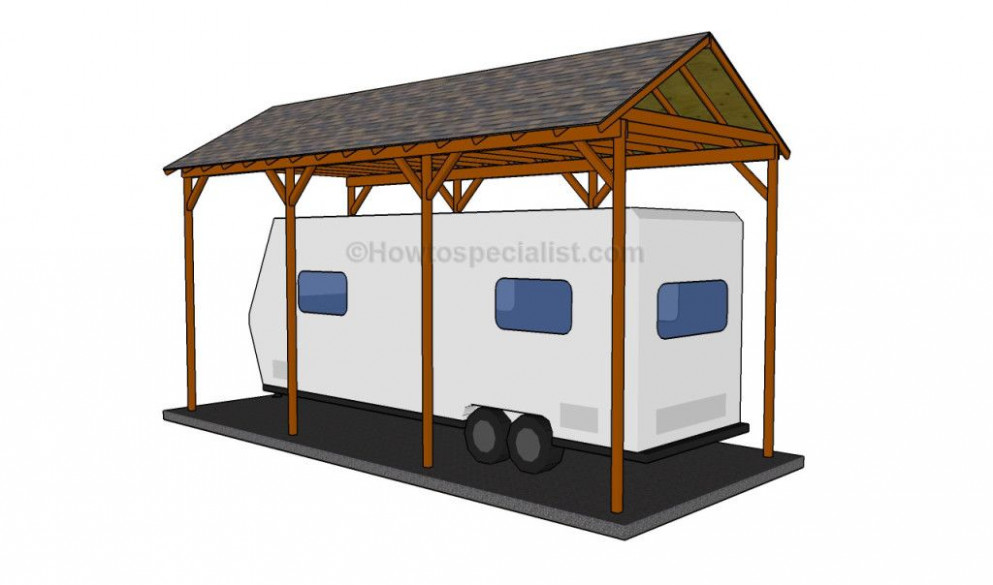 Build A Cover Over An Rv | How To Build A Wooden Carport ..