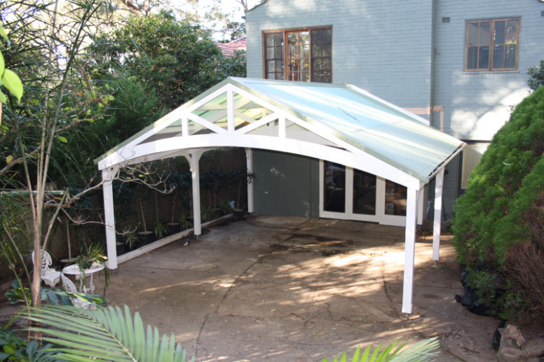 Build Double Garage Carport Plans DIY Red Wood Stain ..