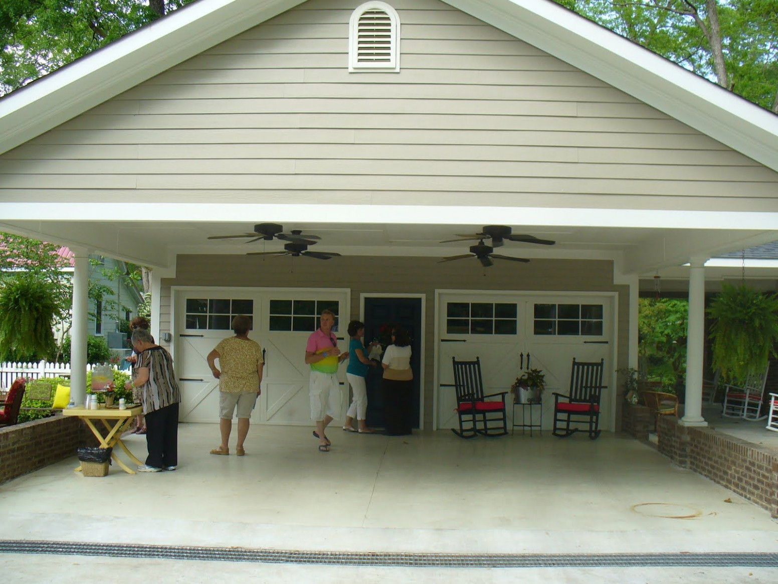 Building A Carport Patio | Notice The Ceiling Fans. Isn't ..