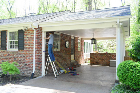 Building A Garage Or Carport Pergola   Young House Love Carports Decorating Youtube