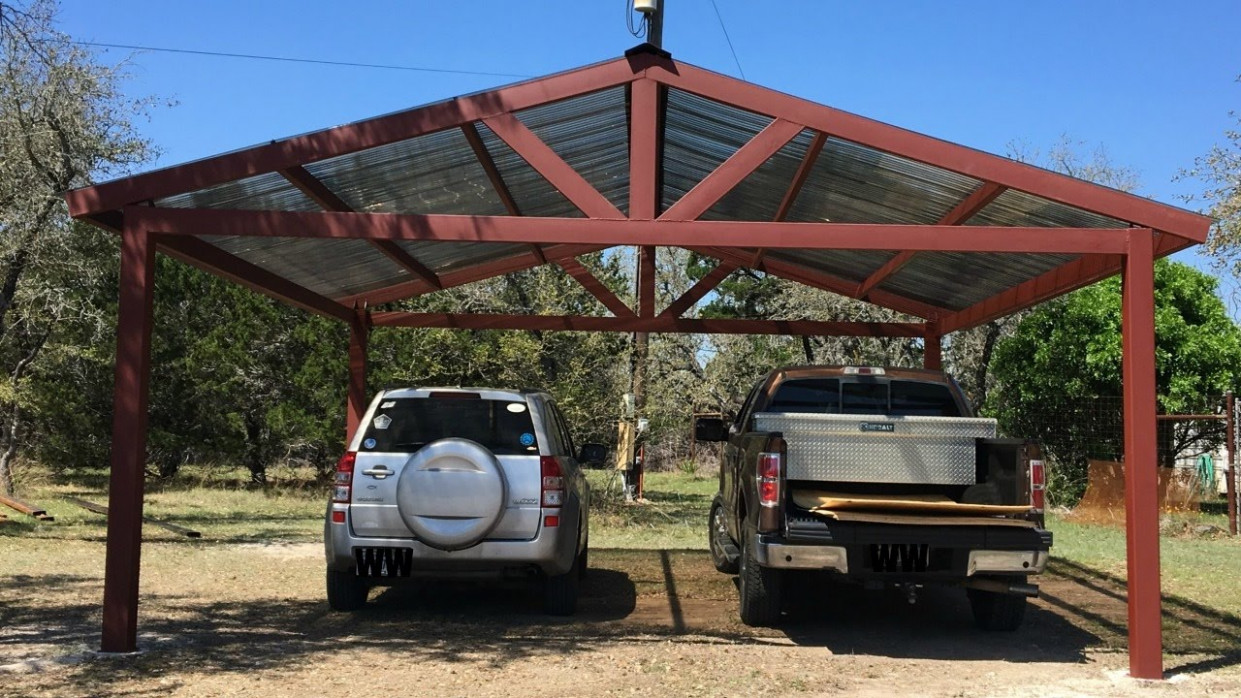 Building A Metal Carport Part 12 How To Build A Modern Carport