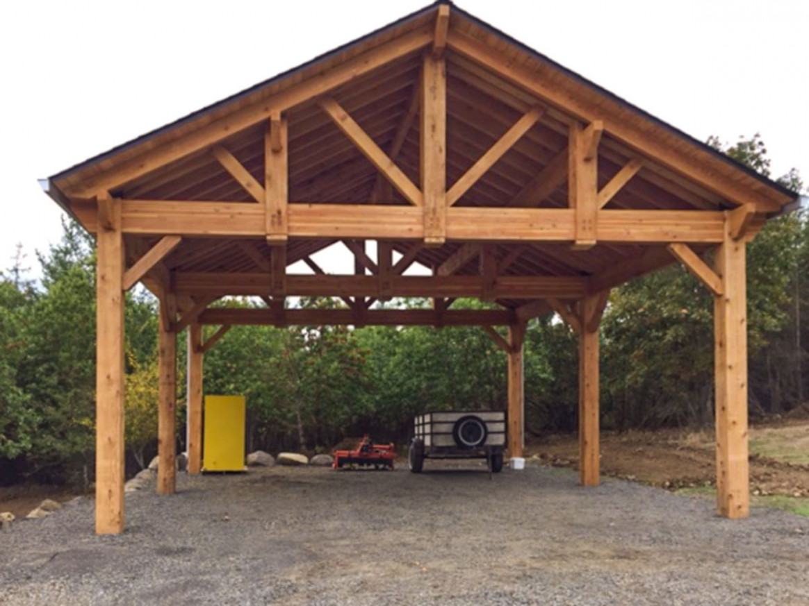 Building An Easy DIY RV Cover | Western Timber Frame Carport Hip Roof Plans