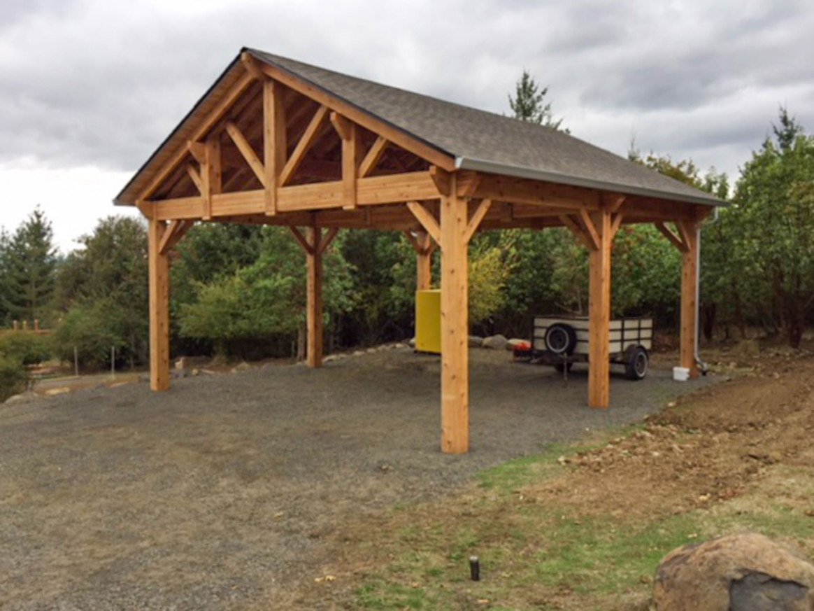 Building An Easy DIY RV Cover | Western Timber Frame Wooden Carport Structures