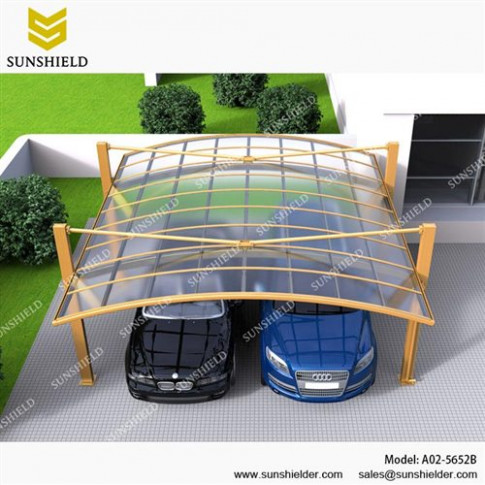Cantilever Carport Kits- Double Aluminum Car Parking Shed ...
