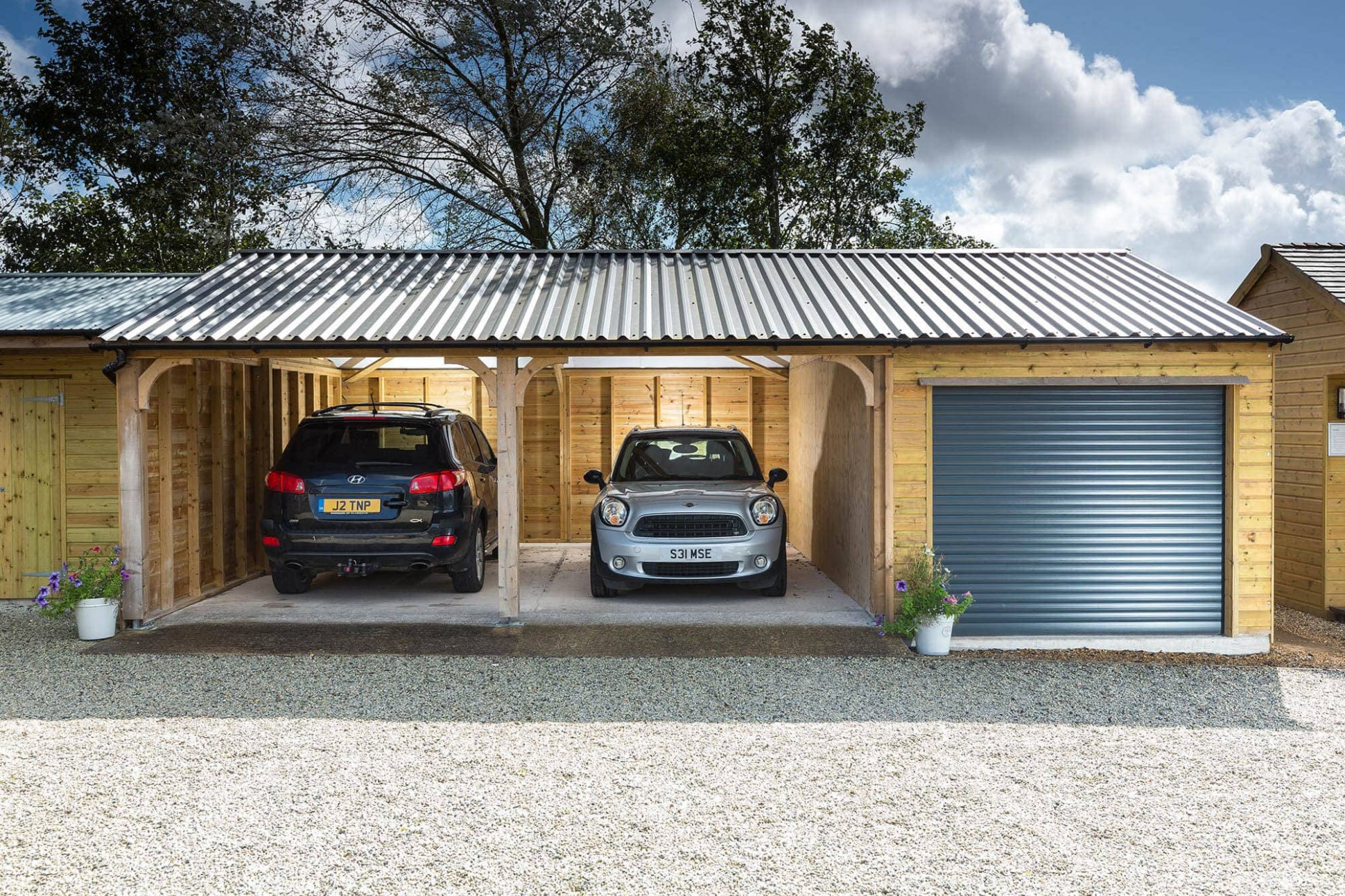 Car Parking Shelters | Shields Buildings Timber Carport Garage