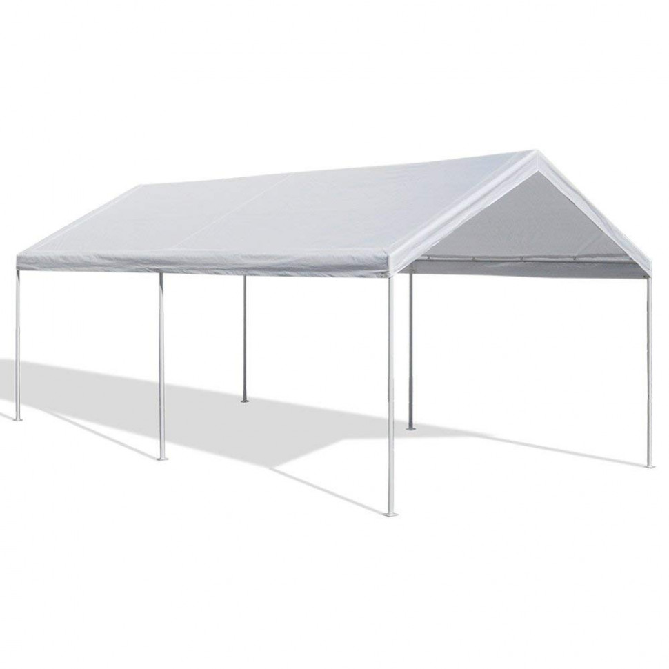 Caravan Canopy 10 X 10-Feet Domain Carport, White