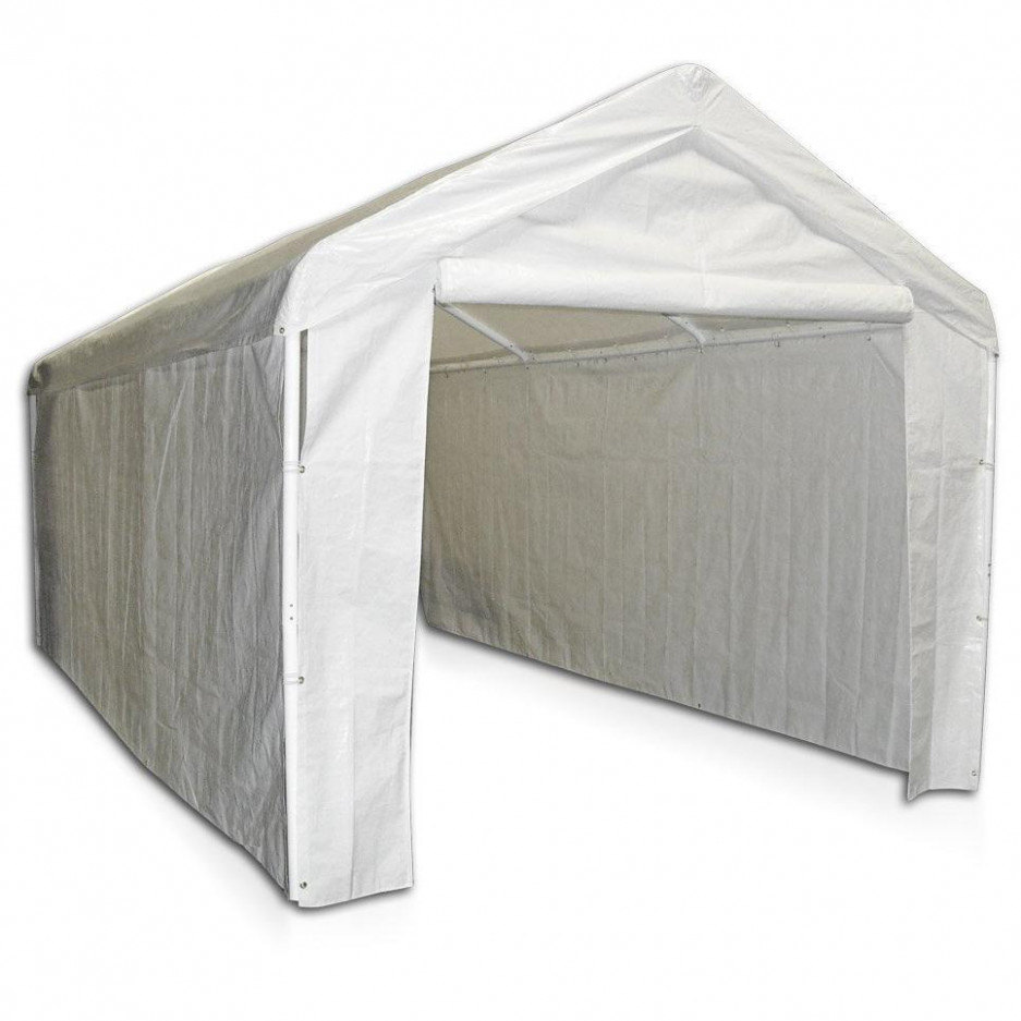 Caravan Canopy 11 Side Wall Kit For Domain Carport, White (Top And Frame Not Included) Carport Canopy With Sides
