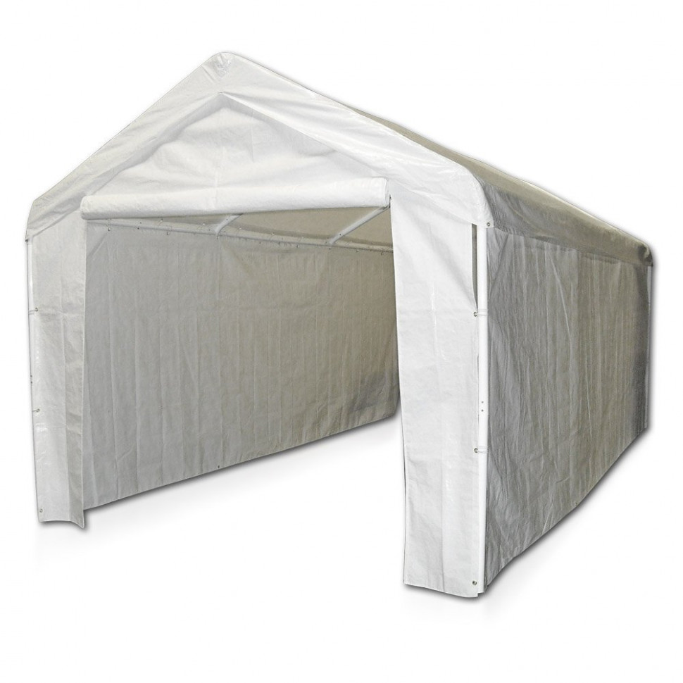 Caravan Canopy 11 Side Wall Kit For Domain Carport, White (Top And Frame Not Included) Carport Canopy Zipper