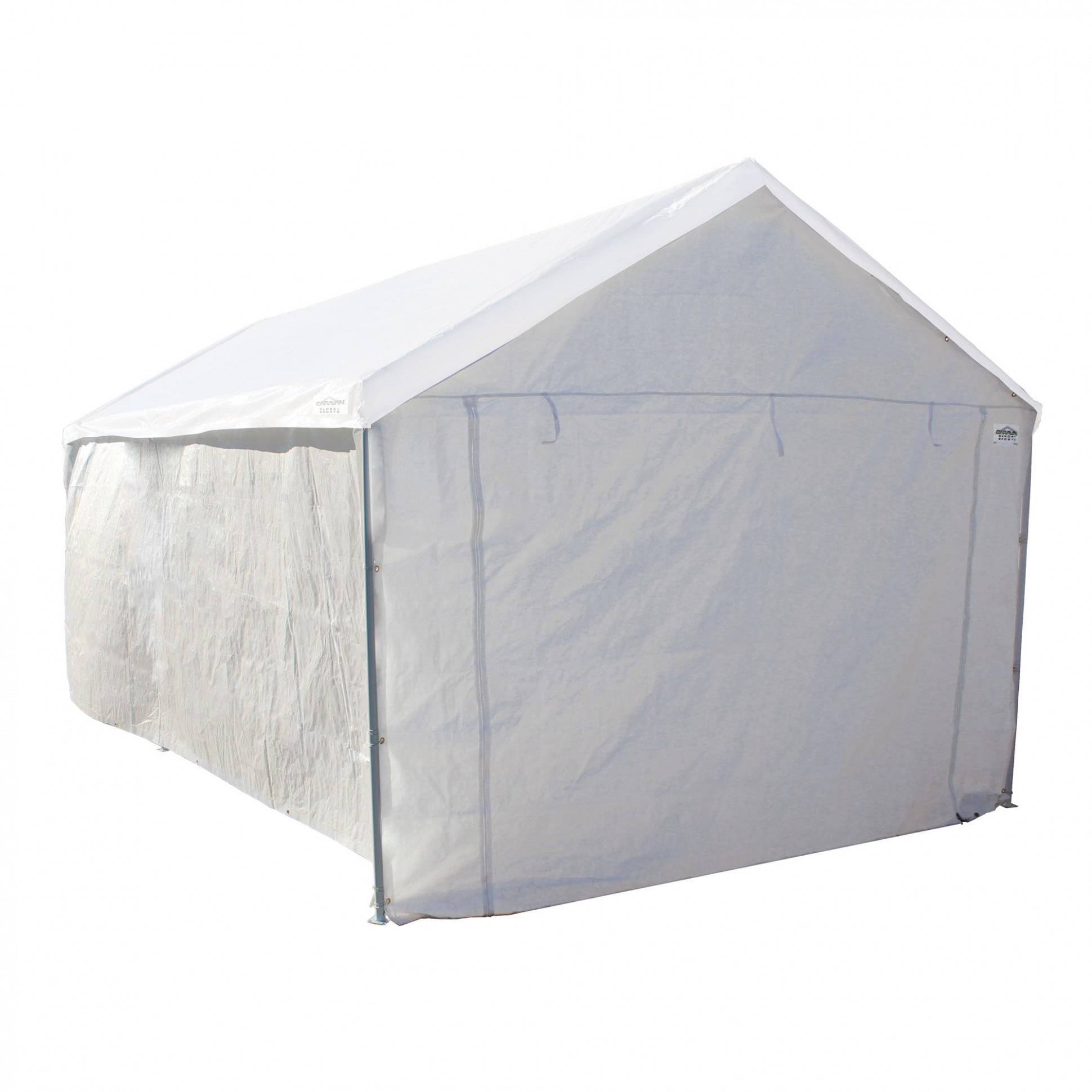Caravan Canopy Sports 11'x11' Domain Carport Garage Sidewall/Enclosure Kit (Frame And Top Not Included) Enclosing A Carport To Make A Garage