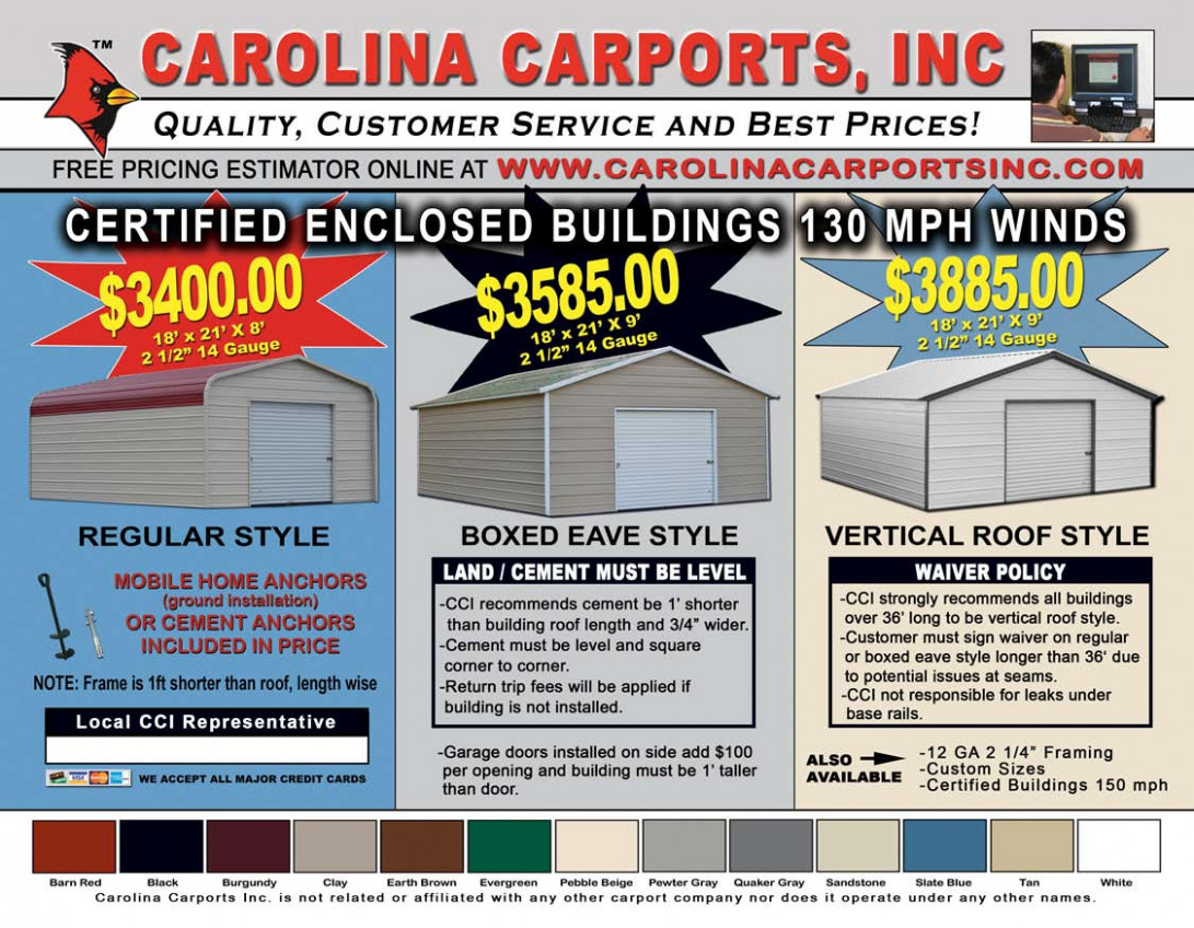 Carolina Carports, Certified Carports & Garages Carolina Carports Garage