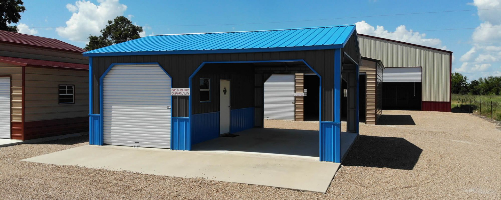 Carolina Carports Garage Utility Combo | Enterprise Center Carolina Carports Garage Packages