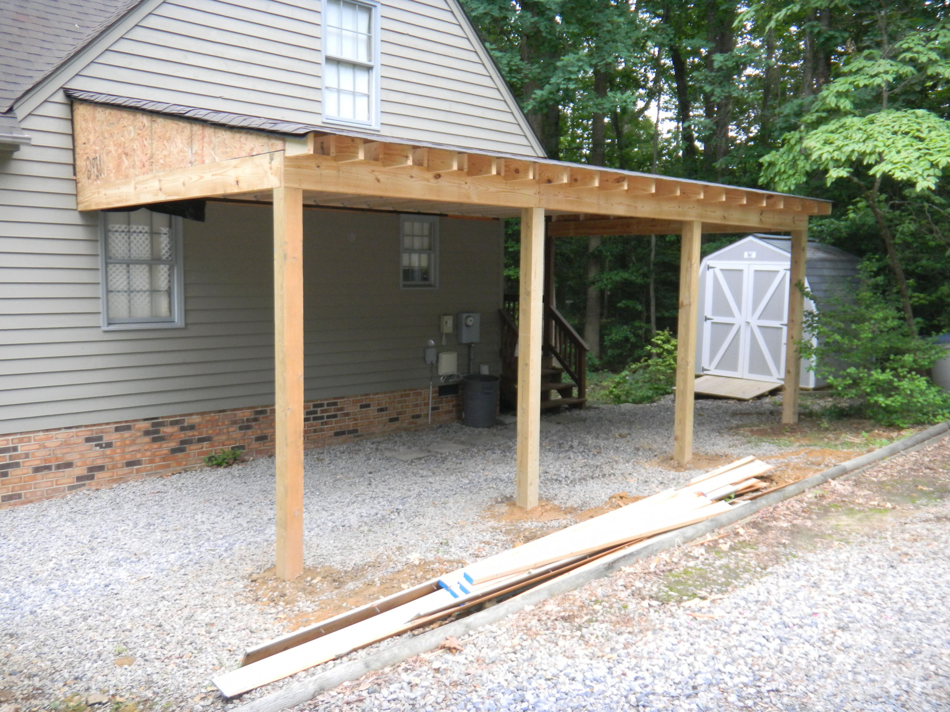 Carport Additions | Progress Photo Of Carport In ..