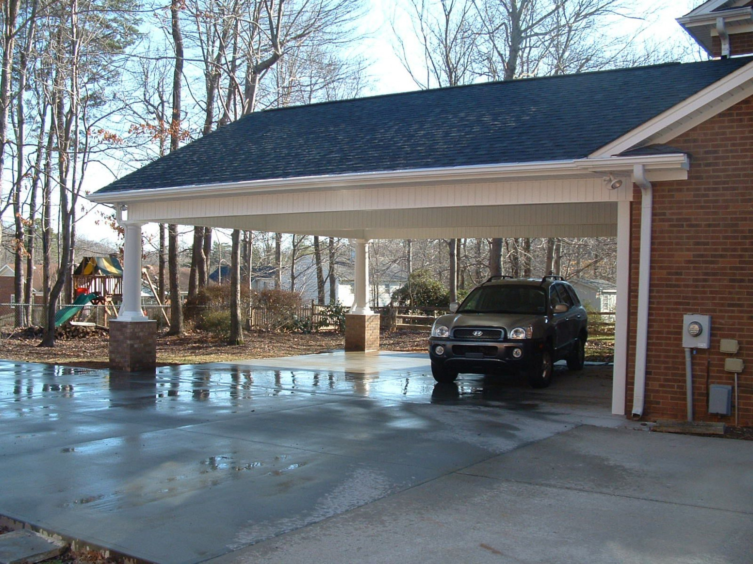 Carport And Screen Porch Additions | White Addition Before ..