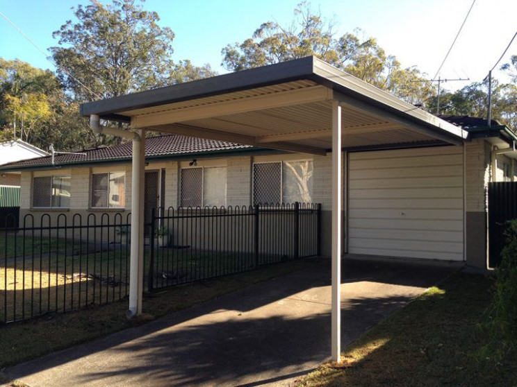 Carport (Attached, Flat Roof 8m X 4m) Smartkits Australia Gable Roof Carport Attached To House