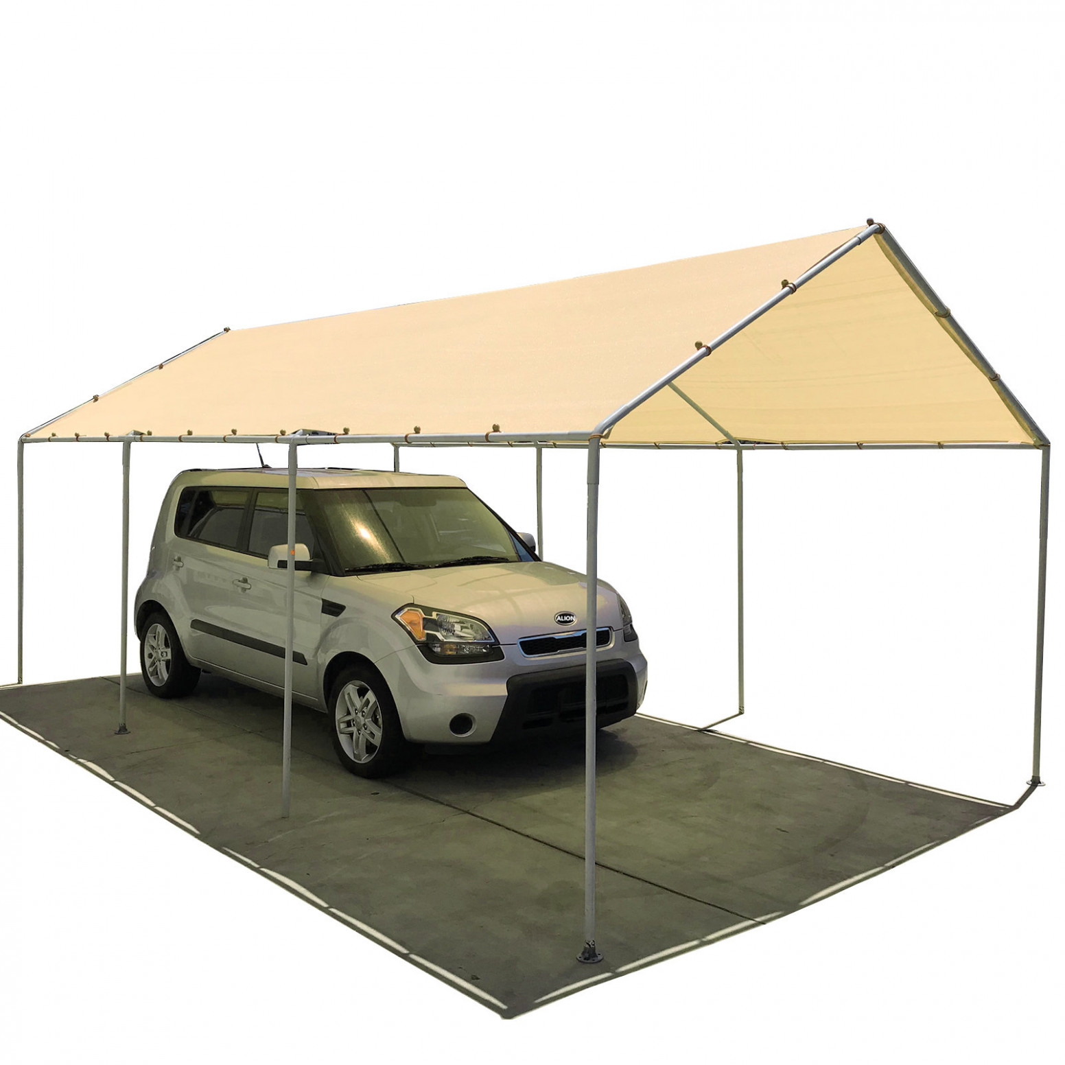 Carport Canopy Replacement Permeable Sun Shade Cover (Frame Not Included) Carport Tent Replacement Parts