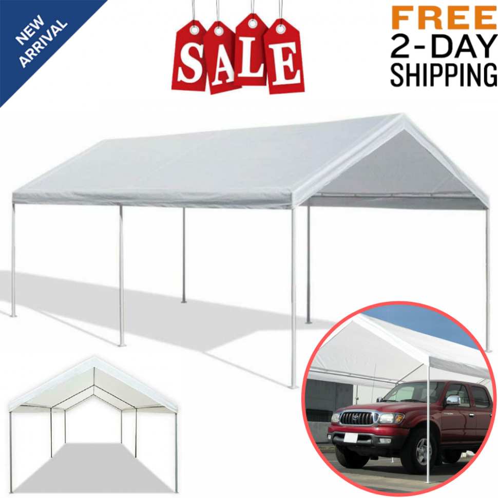Carport Canopy Tent Caravan Portable Garage Shelter Car Port Heavy Duty 13'x13′ Used Carport Canopy For Sale