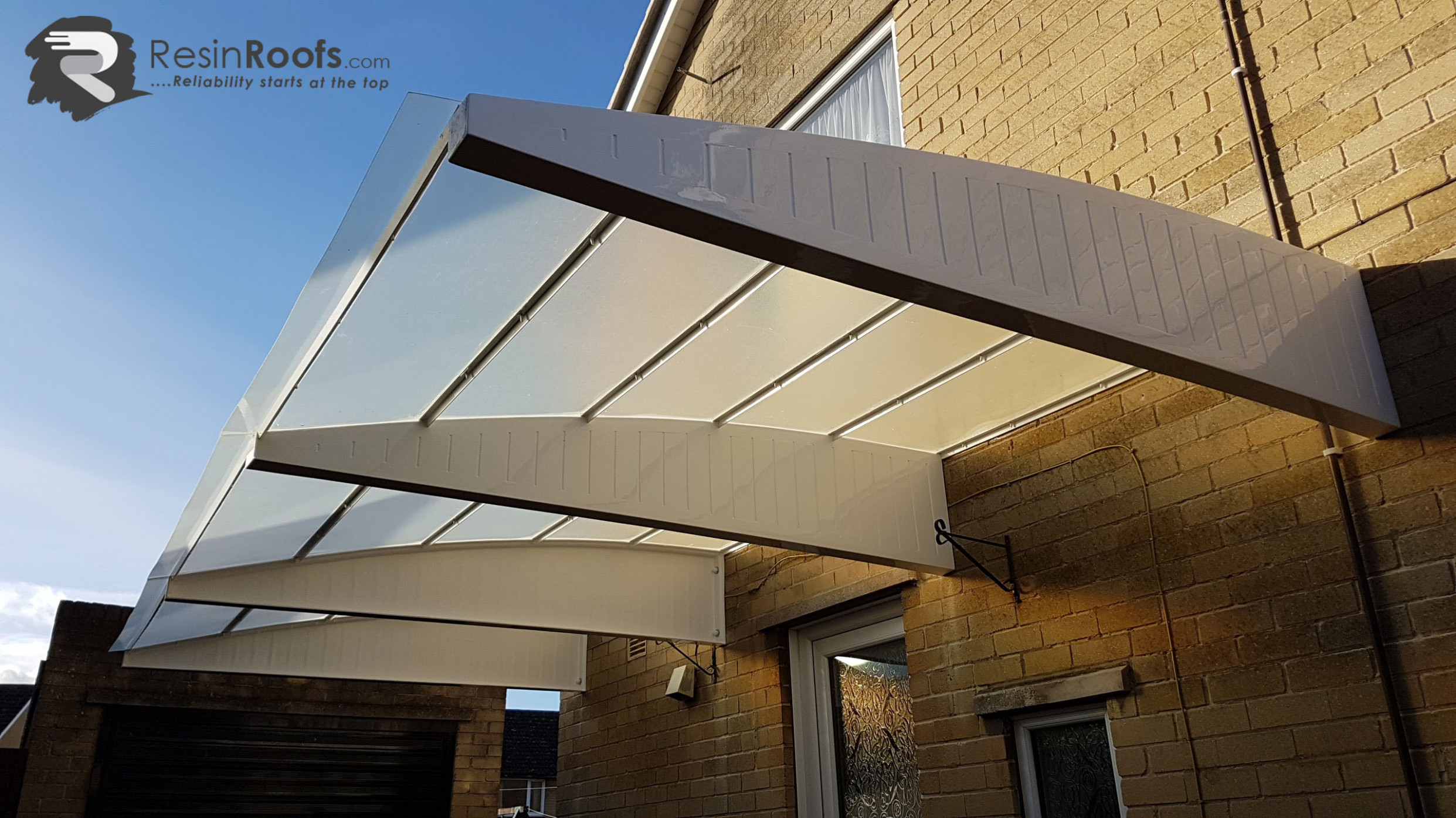 Carport Cantilever GRP Up To 7MM Projection Including Fixing Kit Carport Canopy Prices