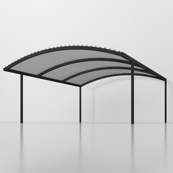 Carport Double Curved Roof 6m X 6m – Delta BEC Studio Carport Curved Roof