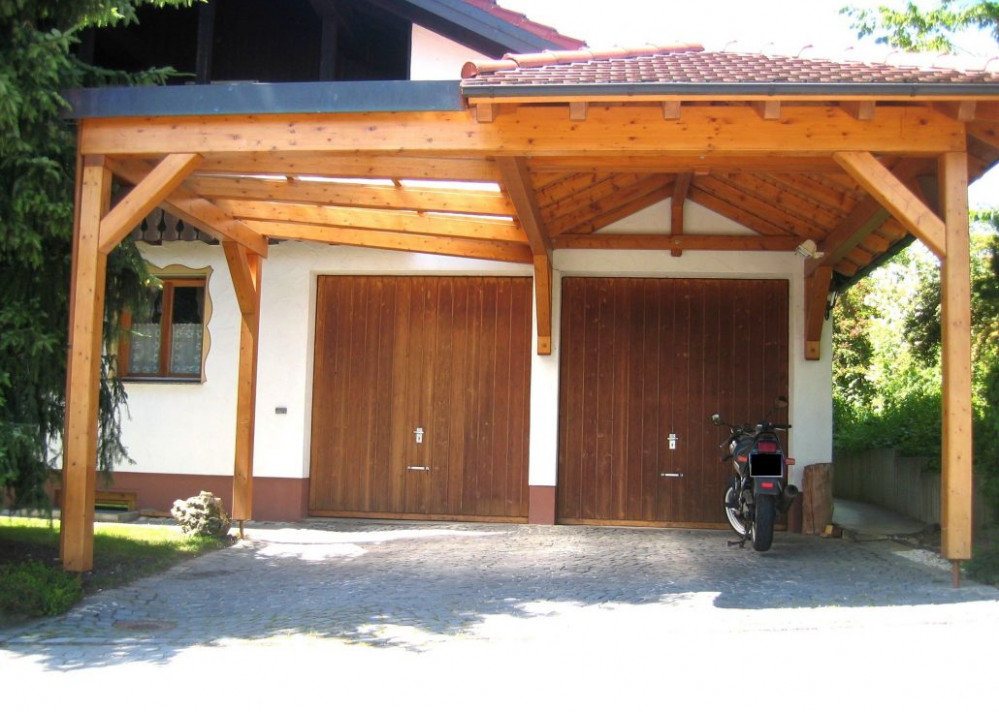 Carport/Garage Holzbau Straub Carport And Garage