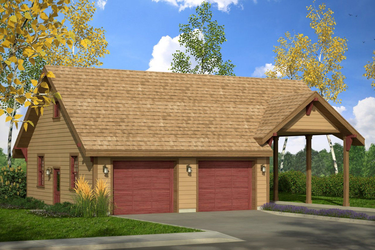 Carport In Front Of Garage Wood Carports And Garages Single ...