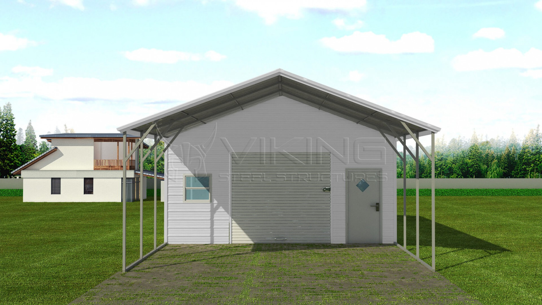 Carport In Front Of House #EH13 – Roccommunity Metal Carport In Front Of Garage