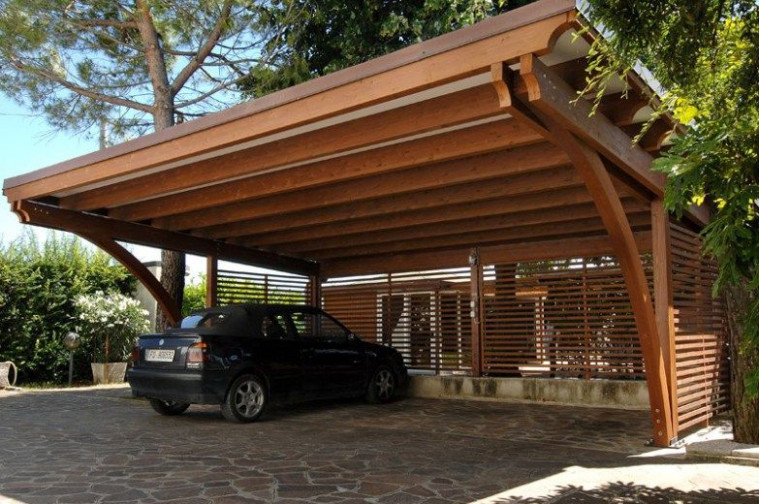 Carport In Legno 04 | Home Construction Projects In 2019 ..