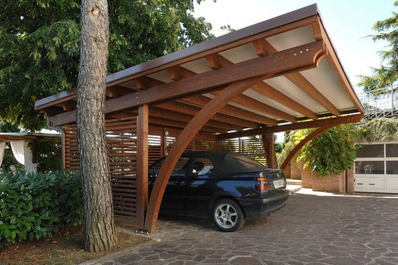 Carport in legno - 05 | Architecture: Cottages/Tiny Houses