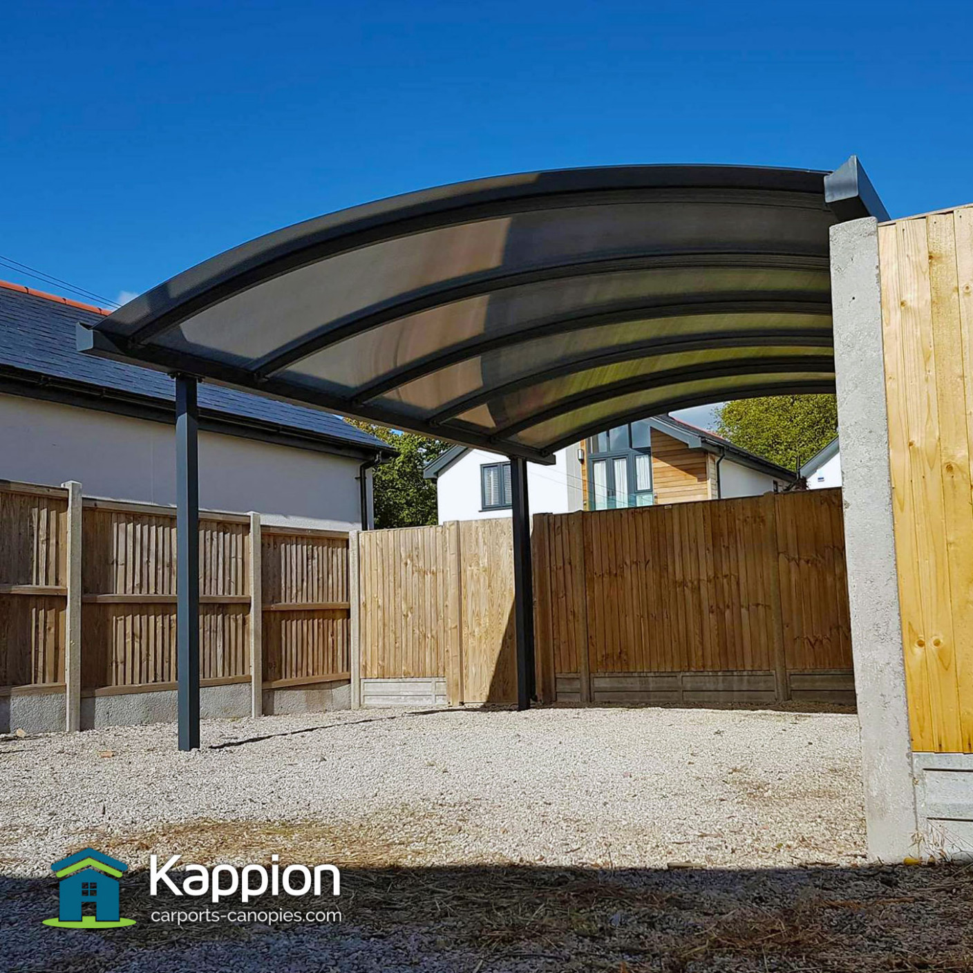 Carport Installed In Whitstable | Kappion Carports & Canopies Modern Home Carport