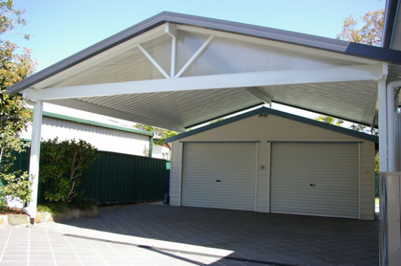 Carport Kits And Covered Outdoor Areas | Real Aussie Sheds Modern Carport Australia