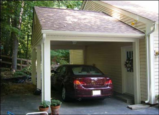 Carport Maybe The Leaning Should Go More With The Slope ..