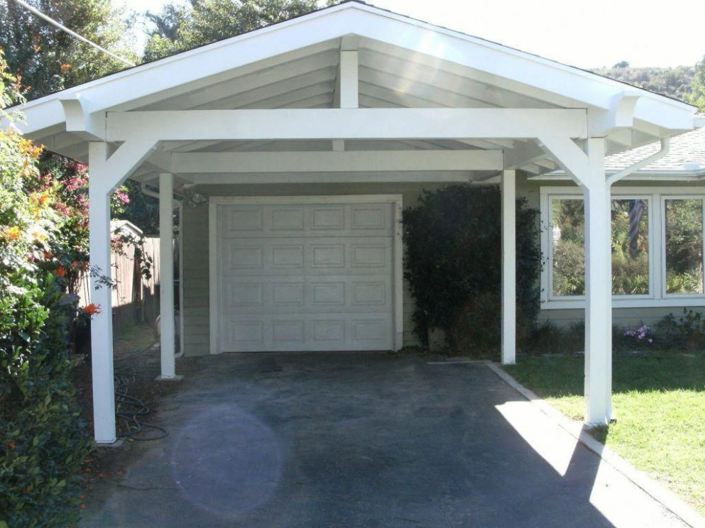 Carport Modern Garage And On Carport Plans Attached To House ..