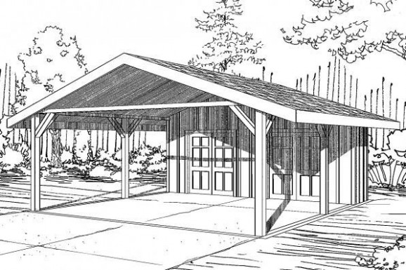 Carport Plan With Storage 20 094 From Associated Designs ..