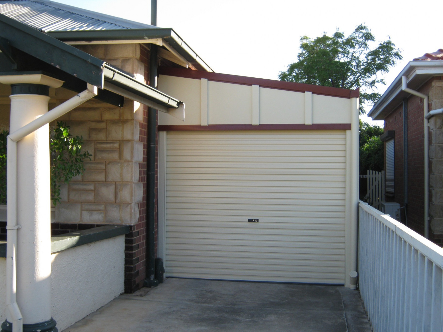 Carport Roller Door Enclosed Carport With Garage Door