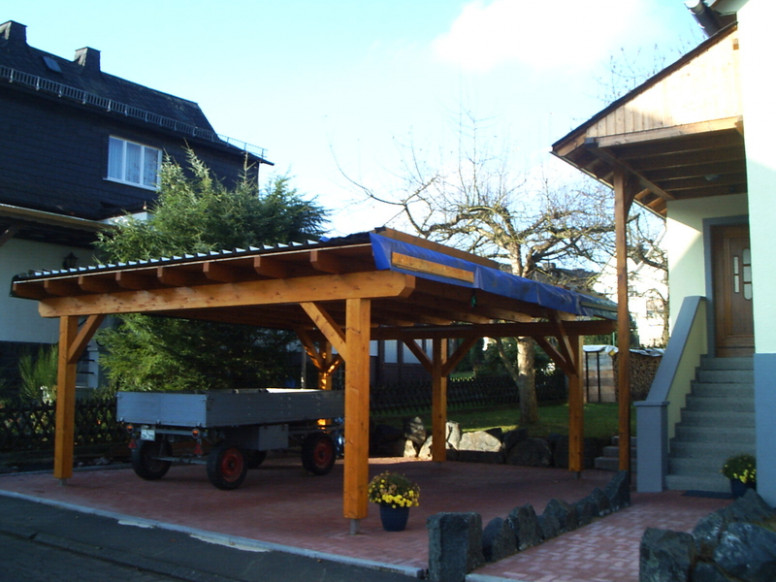 Carport Roofs & Double Carport Flat Roof Timber ..