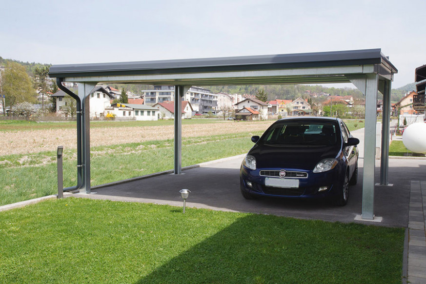 Carport Roofs Supported By 4 Columns Carport Zinc Roofing